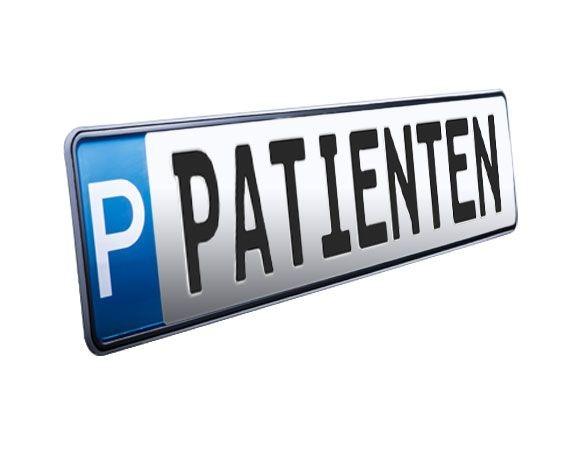 Parkplatzschild PATIENTEN