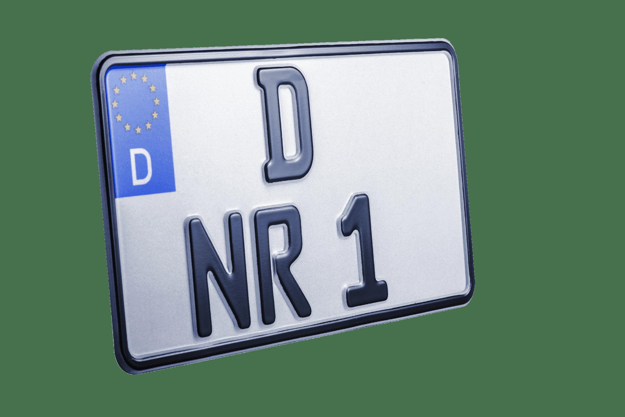 125er und 80er Leichtkraftrad-Kennzeichen online bestellen