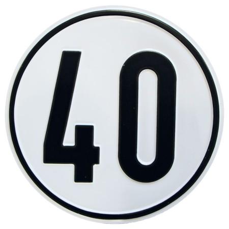 Geschwindigkeitsschild Material Alu-Geprägt 40 km/h