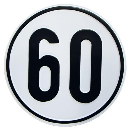 Geschwindigkeitsschild Material Alu-Geprägt 60 km/h