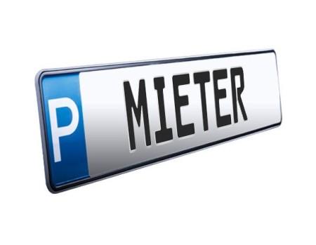 """Parkplatzschild """"MIETER"""""""