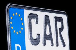 Motorradkennzeichen Carbon