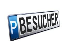 Parkplatzschild BESUCHER