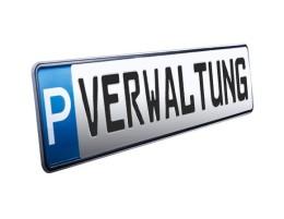 Parkplatzschild VERWALTUNG